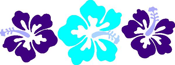 600x224 Blue Flower Clipart Hawaii Theme