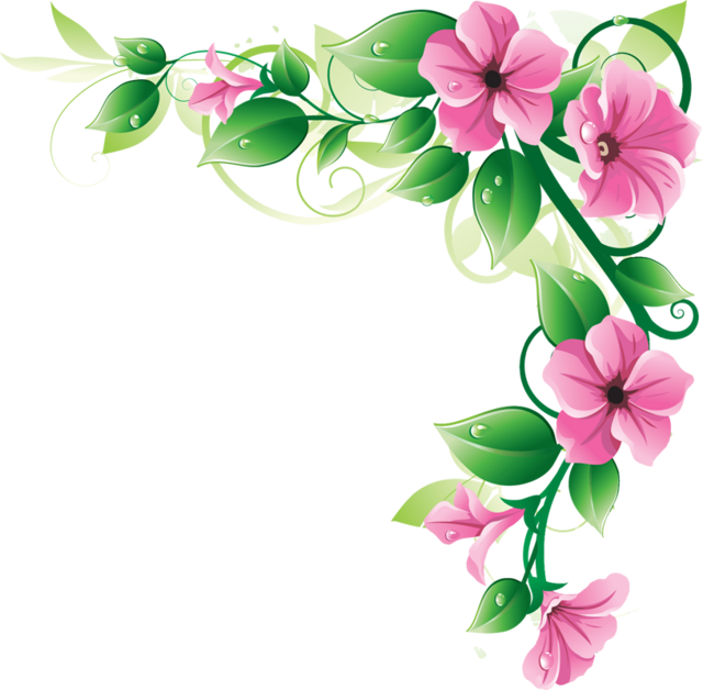 640x628 Pink Flower Border Clip Art Free Clipart Images Image
