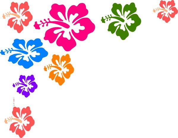 Luau Flowers Clipart