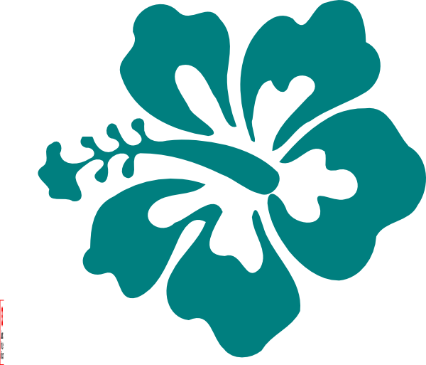 600x513 Hawaii Clipart Teal Flower