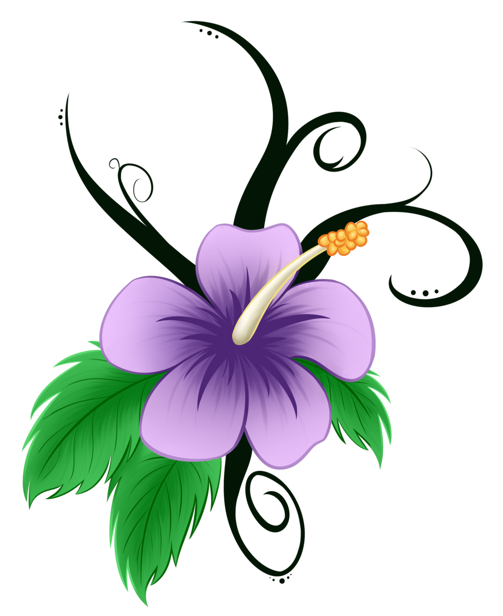 1024x1253 Hawaiian Flower Clip Art Pin Hibiscus Remixed Free Clip Art