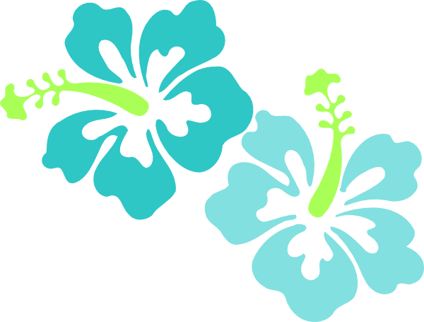 600x455 Hawaiian Flowers Clip Art