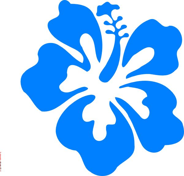 600x573 Hawaiian Flower Blue Flower Clipart Hawaiian Pencil And In Color