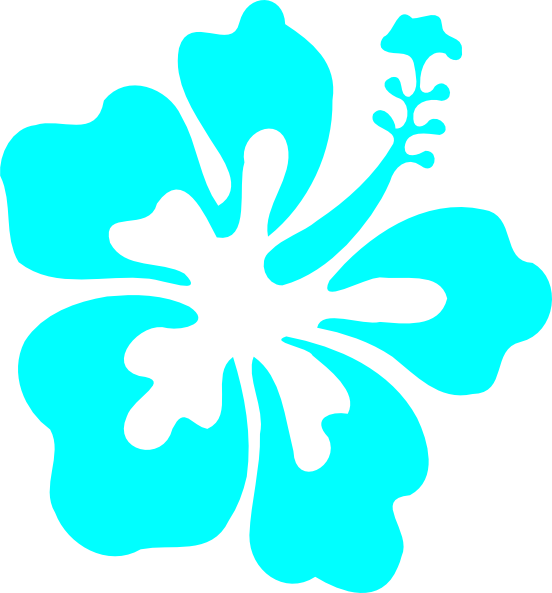 552x593 Hawaiian Flower Blue Hibiscus Cliparts Free Download Clip Art