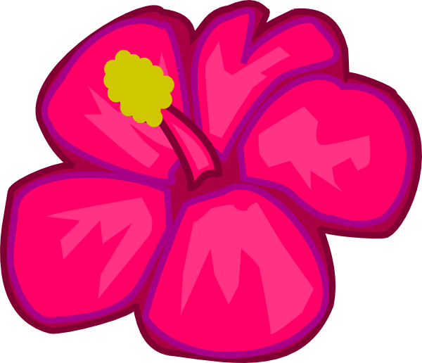 600x516 Hawaiian Flowers Clip Art Hostted