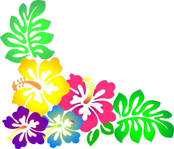 600x512 Hawaiian Luau Tiki Flowers Clipart Clipart Kid