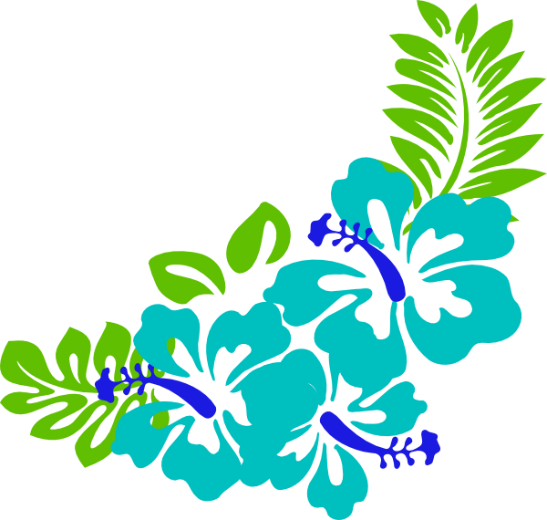 600x570 Tropical Flower Clip Art