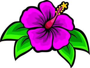 300x225 Clip Art Hawaiian Flowers