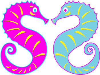 350x263 Image of Sea Horse Clip Art