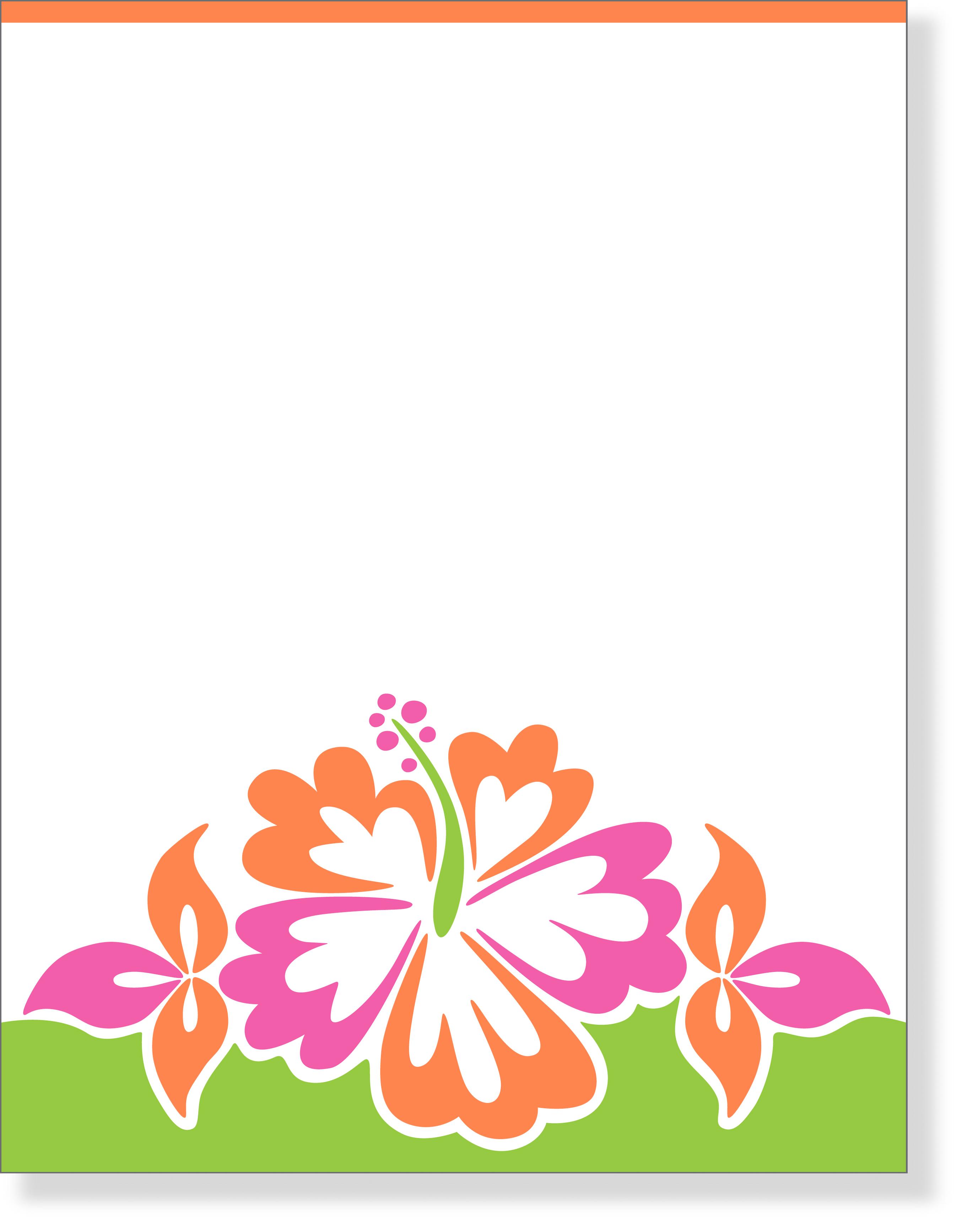 2722x3467 Luau Cliparts Paper