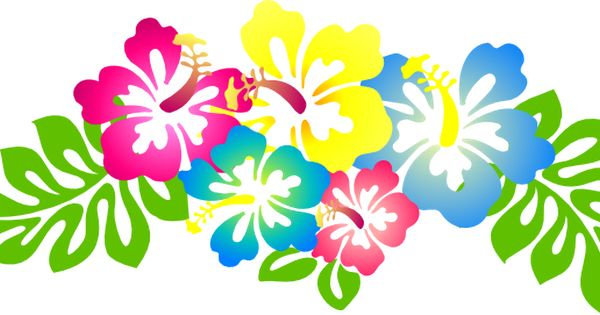 600x315 Luau Flowers Clip Art Clipart