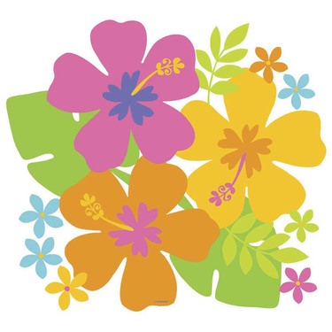 375x375 Amscan Summer Luau Hibiscus Cut Outs Amelia's Party