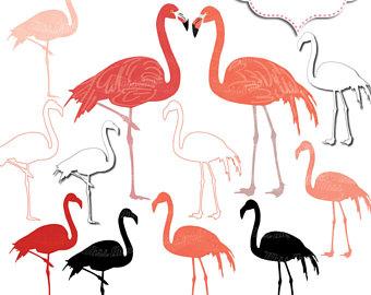 340x270 Flamingo Clip Art Etsy Studio