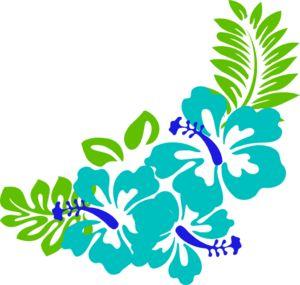300x285 Tropical Free Hawaiian Clip Art Flower Luau 5