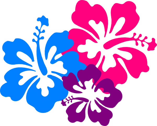 600x482 Blue Flower Clipart Hawaiian Luau Party