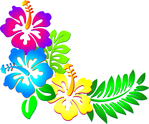 600x499 Luau Flowers Clipart