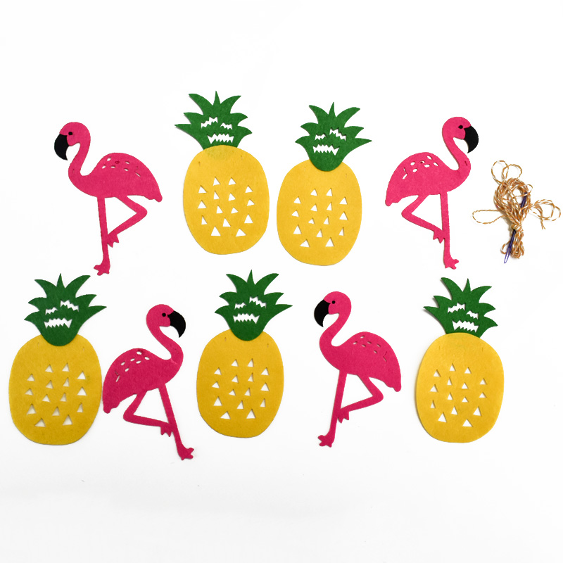 800x800 Buy Flamingo And Pineapple Banner Bunting Summer