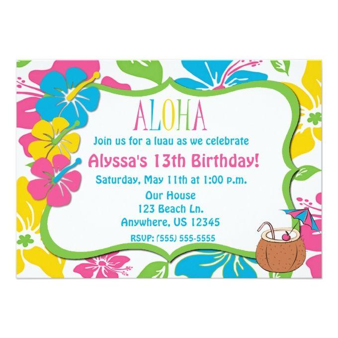680x680 817 Best Luau Invitations Images Flower Birthday