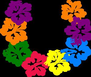 298x255 Hibiscus Lei Clip Art