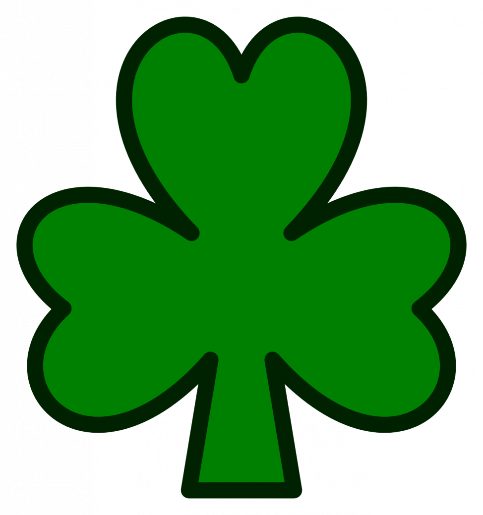974x1039 Coloring Pages Shamrock Free Clip Art Pattern Clipart Images
