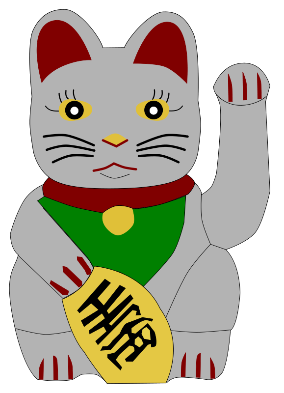 579x800 Free Clipart Lucky Beckoning Cat Andrew R Thomas