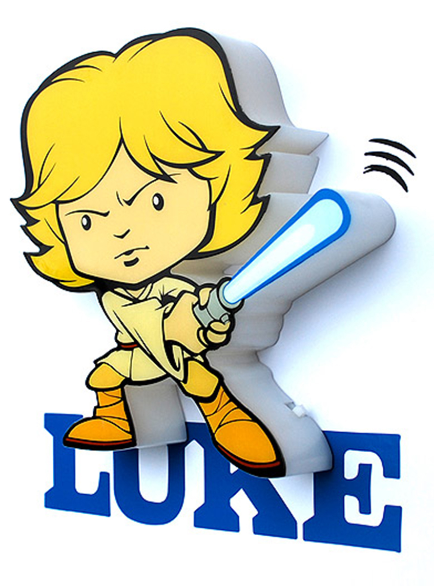 889x1200 Deco Light Luke Skywalker Cartoon