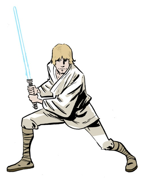 500x675 Luke Skywalker Clipart