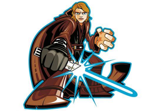 547x380 Wandtattoo Anakin Skywalker Comic Style Clipart Star Wars