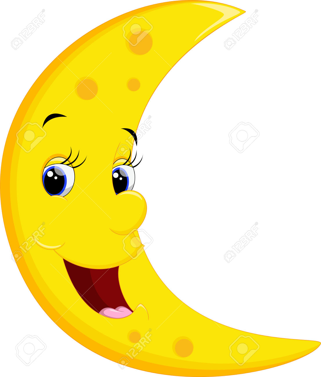 1107x1300 Lunar Clipart Smiley