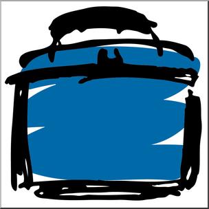 304x304 Clip Art Lunch Box 2 Blue I Abcteach