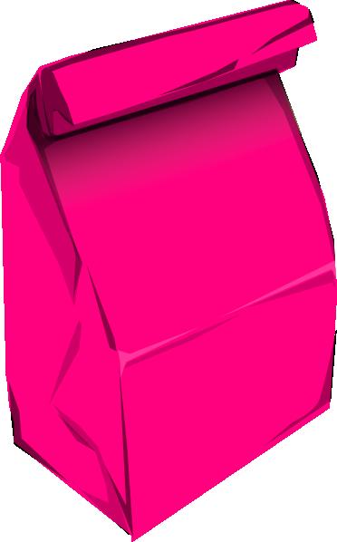 372x598 Pink Paper Bag Clip Art