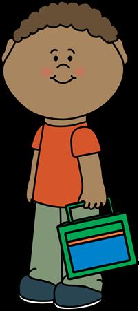202x450 Boy Carrying Lunch Box Clip Art