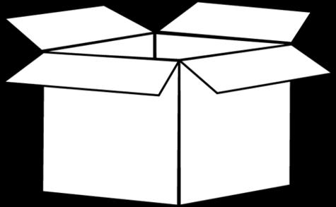 475x293 Box Clipart Black And White