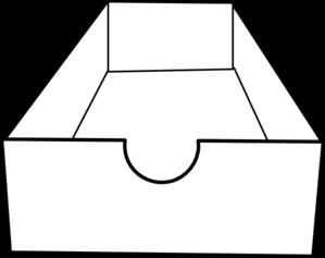 299x237 Box Clipart Black And White