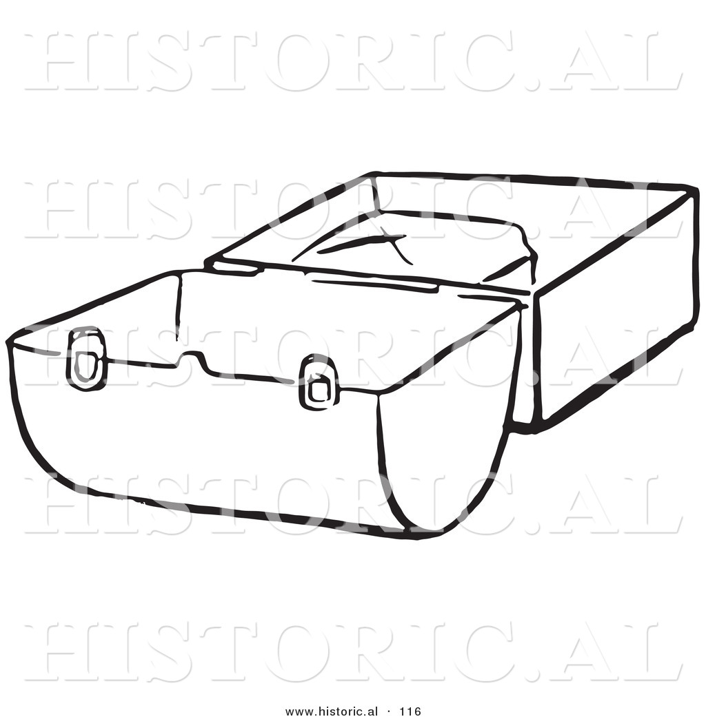 1024x1044 Historical Vector Illustration Of An Opened Lunch Box
