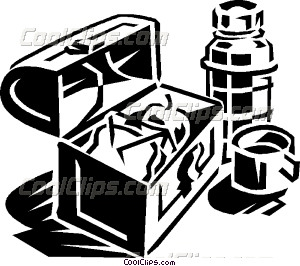 300x266 Lunch Box With Thermos Vector Clip Art