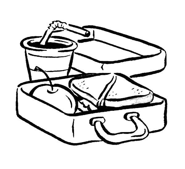 Lunch Box Coloring Page Free download best Lunch Box Coloring Page