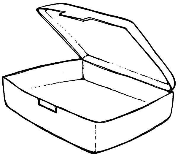 600x529 Empty Lunchbox Coloring Pages