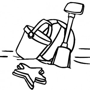 300x300 Lets Play To The Beach With Beach Bucket Coloring Pages Best