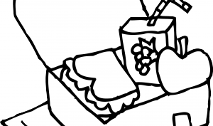 300x177 Lunch Box Coloring Page Clipart Panda