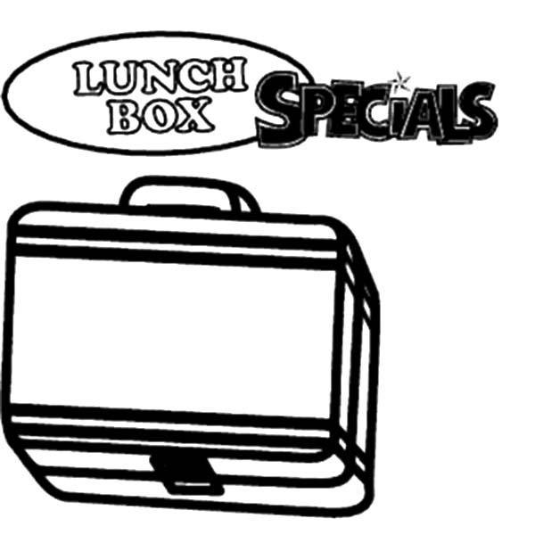 600x600 Lunchbox Special Colouring Pages