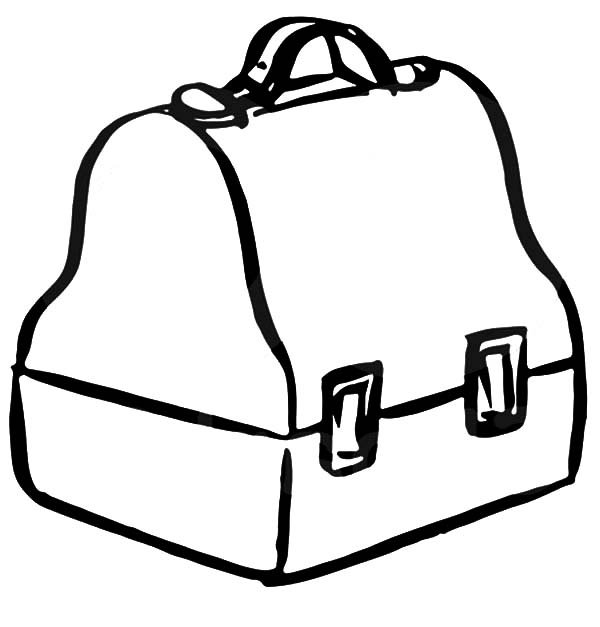 600x627 Classic Lunchbox Coloring Pages