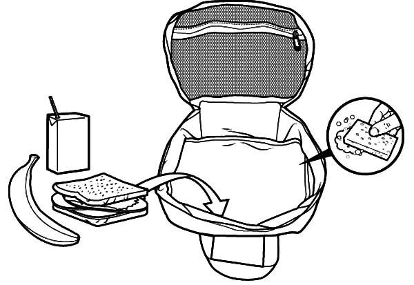 600x413 Classic Lunchbox Coloring Pages Classic Lunchbox Coloring Pages