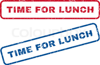 320x209 Lunch Time Clock On A White Background. Vector Illustration