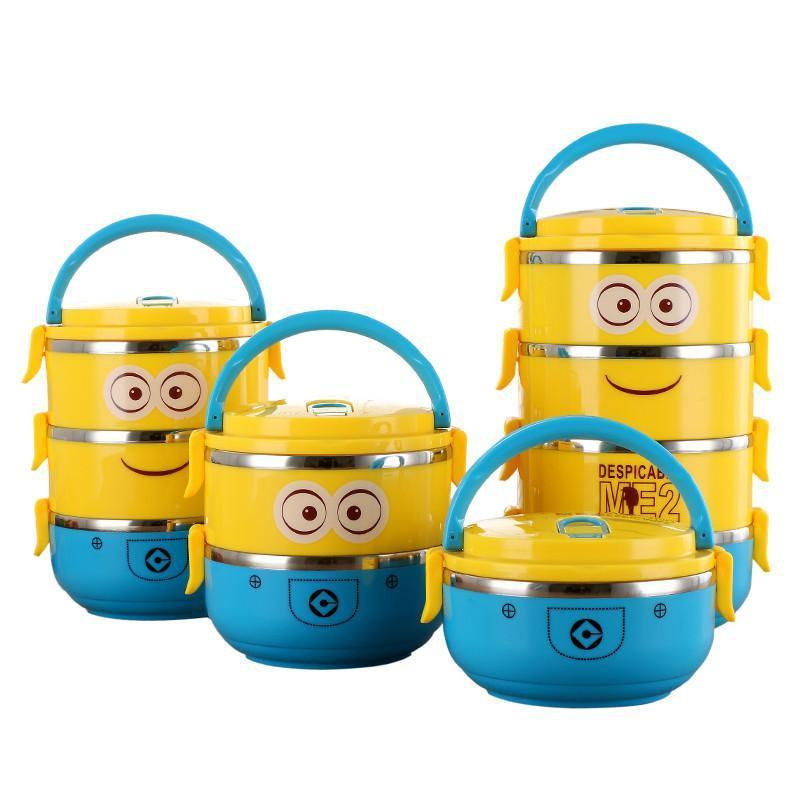 800x800 Cute Cartoon Minion Stainless Steel Lunch Box Thermos Central