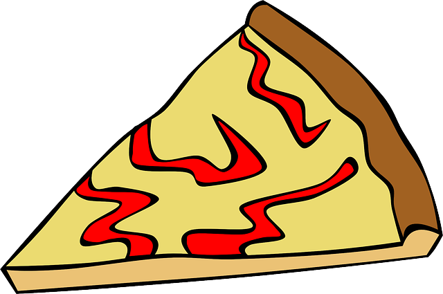 640x425 Food, Pizza, Slice, Menu, Cheese, Cartoon, Lunch, Fast