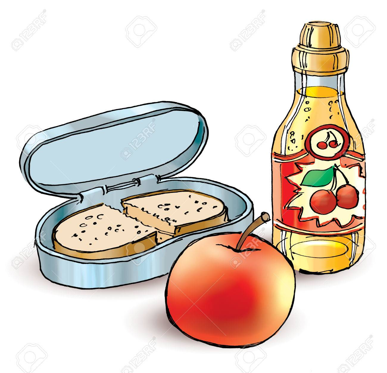 1300x1255 Lunch Box Cartoon Stock Photos Amp Pictures. Royalty Free Lunch Box