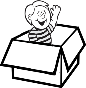 294x300 Outside The Box Black And White Clipart