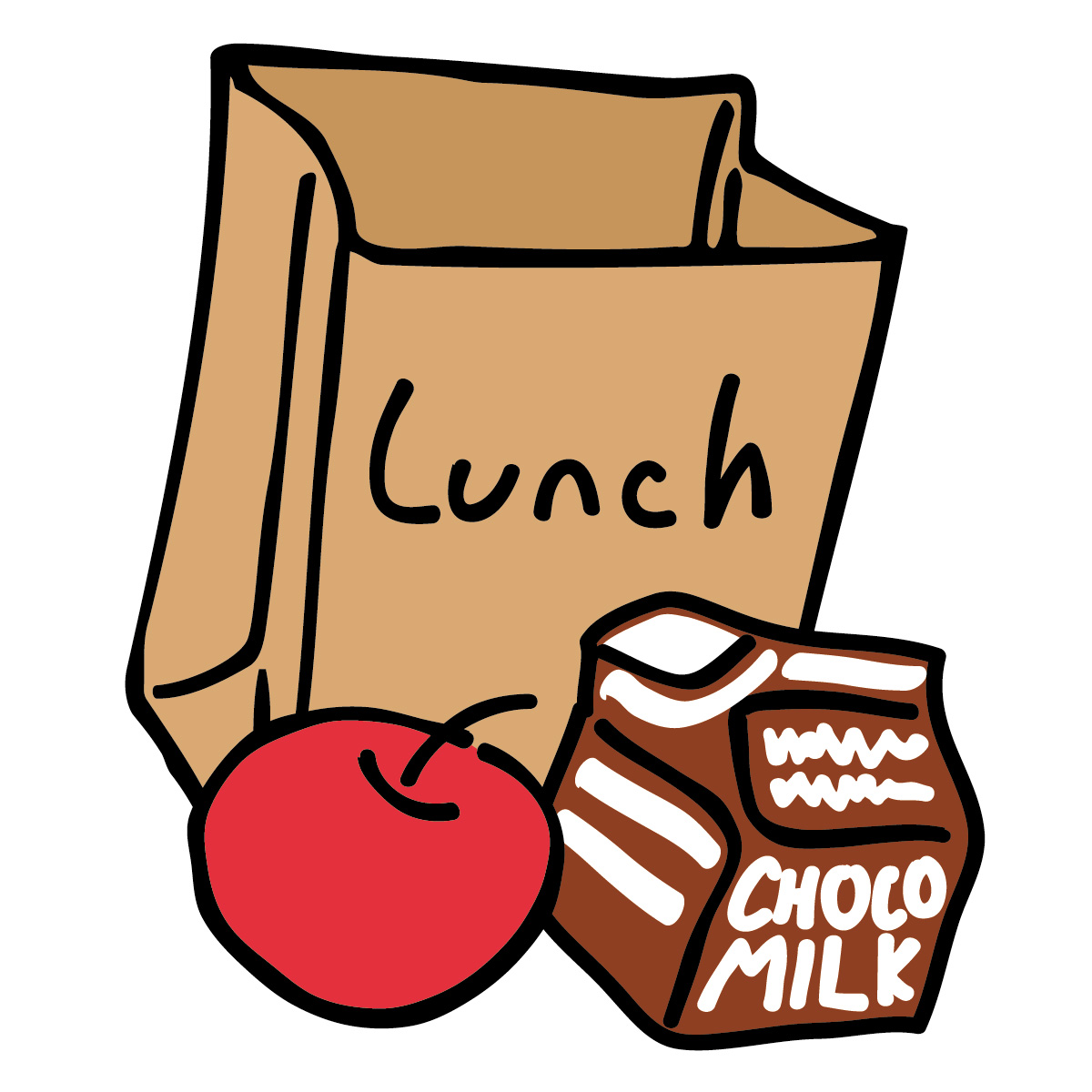 1200x1200 Lunch Tray Clipart