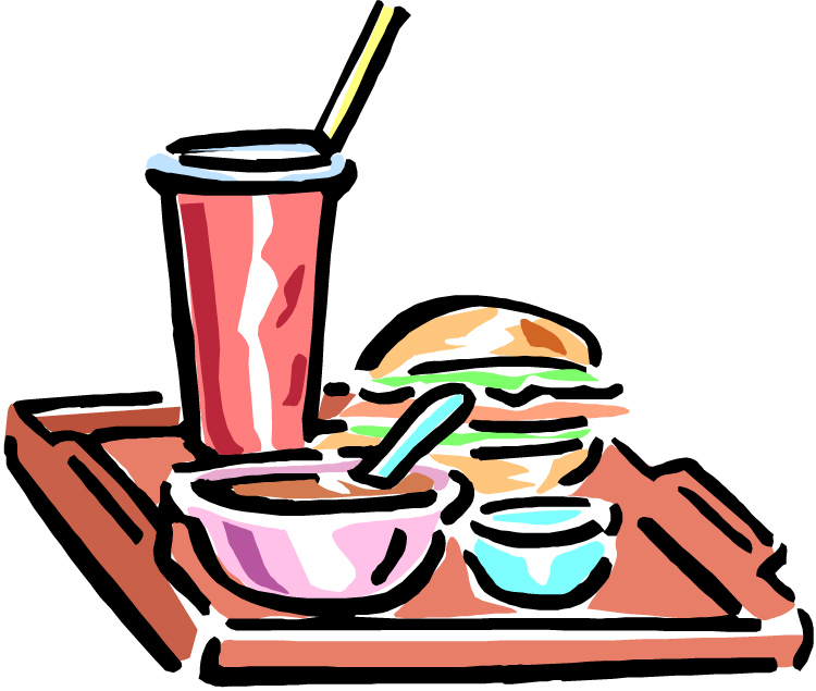 750x635 Pink Lunch Tray Clipart